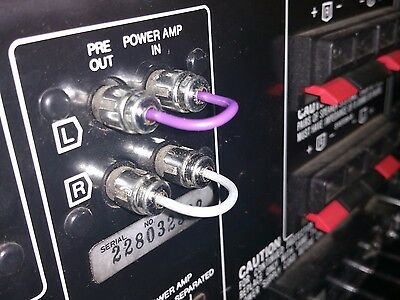 RCA Jumper Pair - Pre Out / Amp In -- Soldered Teflon Wire -- Marantz / Pioneer