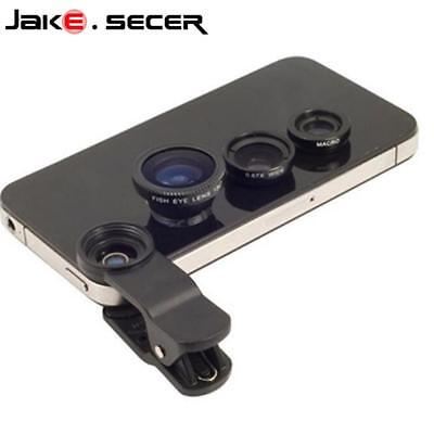 3 in 1 Fish Eye Mobile Phone Lens Wide Camera Macro Cell Angle Universal Clip
