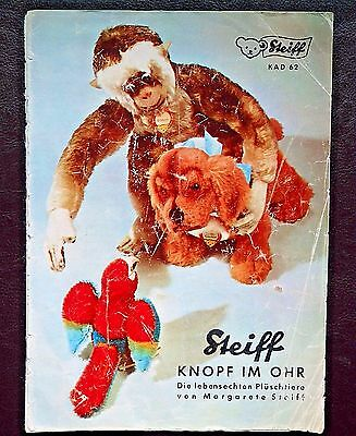 Original Steiff Katalog 1962 - KAD 62 - Prospekt - Catalogue - Brochure