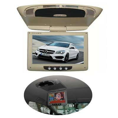 """9""""TFT LCD Car Roof Mount Monitor Flip Down Screen Overhead Video Ceiling Display"""