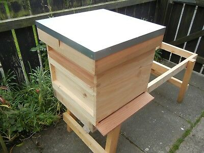 1 National Bee Hive, Cedar wood with frames, Assembled.