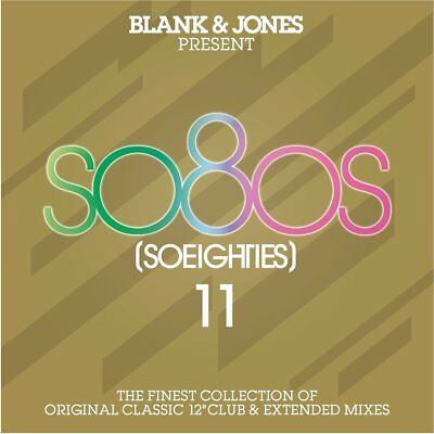 "BLANK & JONES - SO80S 11 2018 2CD 22 x 12"" Mixes ABC,WHODINI,ZZ TOP,ROD STEWART"