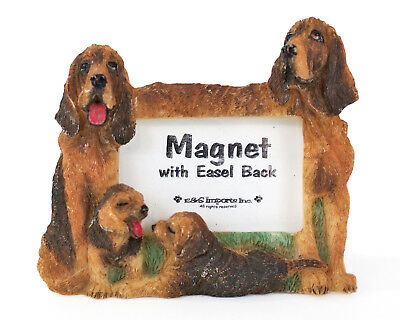 "E&S Imports Bloodhound Photo Frame Magnet 2.25"" x 1.5"", Cute Dog Lover Gift!"