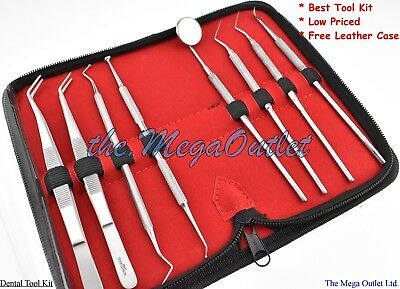 Pro Set Dental STUDENT DENTIST KIT Scaler Tweezers Instruments PICK TOOL KIT