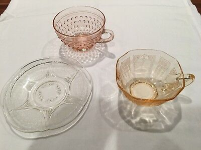 Vintage Depression Glass Antique Miscellaneous pieces-MINT