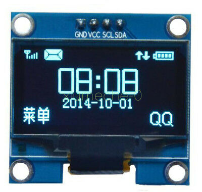 "1PCS Blue 1.3"" OLED LCD Display Module IIC I2C 128x64 3-5V Interface for Arduino"