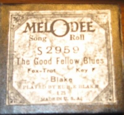 The Good Fellow Blues Played By Composer Eubie Blake Recut Piano Roll 0118