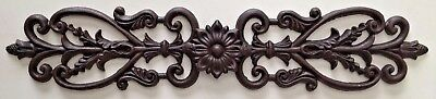 24.5 Cast Iron Metal French Country Topper Wall Plaque Pediment Over Door Decor
