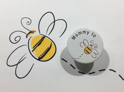 Grandma to be Bumble Bee Cute Baby Shower Announcement Gift Button Pin Badge38mm