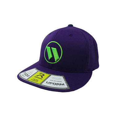 Worth Hat by Richardson (PTS30) All Purple/Neon Green LG/XL