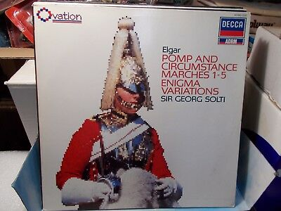 Elgar Pomp And Circumstance Lp As New. Georg Solti Decca
