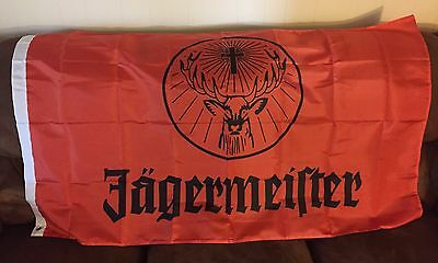 Jagermeister Flag Orange 3' x 5' Polyester (NEW IN PLASTIC)