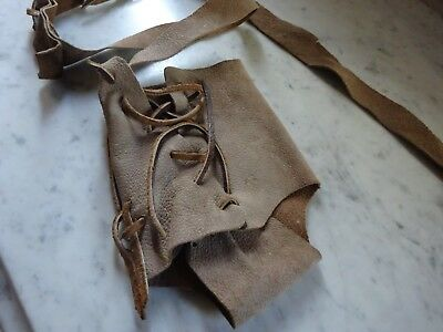 Vintage Antique  Leather Hand Made Tool Weapon Hunting  Knife Pouch ? Native ?