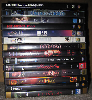 Lot of 15 DVD movies - Men In Black, I Robot, Independence Day, Sleepy Hollow...