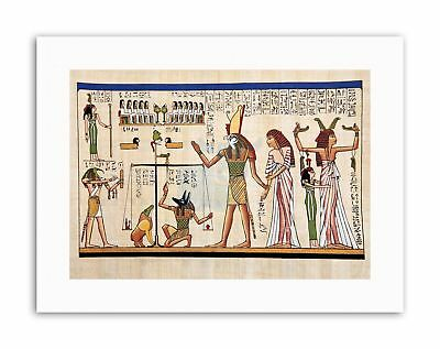 ANCIENT EGYPTIAN HEIROGLYPHICS HORUS THOTH ANUBIS MURAL Poster Painting Canvas