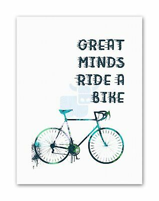 Sport Great Minds Bike Cycle Red Large Wall Art Poster Print LF3890