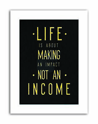 MOTIVATION LIFE MAKING INCOME KRUSE Poster Typography Quote Motivational Canvas