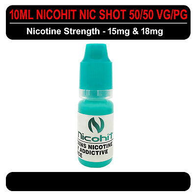 Nicohit  - Nicotine Shot - 15mg & 18mg VG/PG (50/50) 10ml Bottle