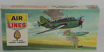 RARE Vintage Airlines 1964 Model Kit Fairey Gannet 1/72 Naval Spotter 9804