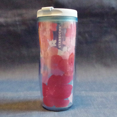 F/S New Starbucks JAPAN Plastic Tumbler SAKURA 2012 cherry blossom limited 12oz