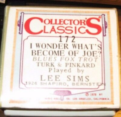 I Wonder What's Become Of Joe Blues Pl: Lee Sims  Recut Piano Roll 0118