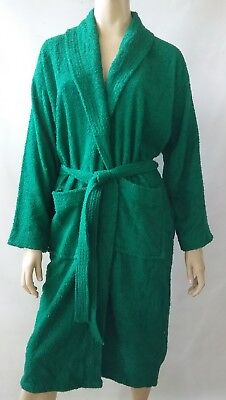 MARSON Homeware vintage terry towelling dressing gown green bed lounge robe