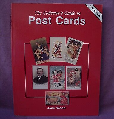 COLLECTORS GUIDE to POST CARDS by JANE WOOD 1984 1993-VALUES PAPERBACK