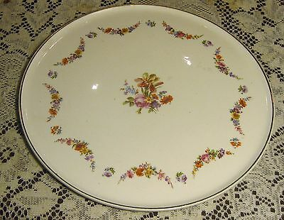 Erphila Art Pottery Cake Plate Floral Dessert Platter Tray Charger Germany