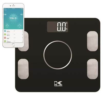 Bluetooth Electronic Body Fat Scale with Body Analysis in Black [ID 3682892]