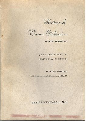 Heritage of Western civilization : select readings. [Paperback] by Beatty, Jo...