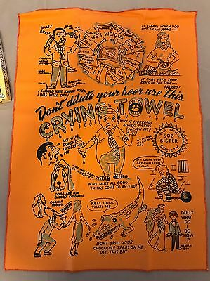 Vtg Art Anson Everyone's Crying Towel 1963 Allentown PA new in  box 60s