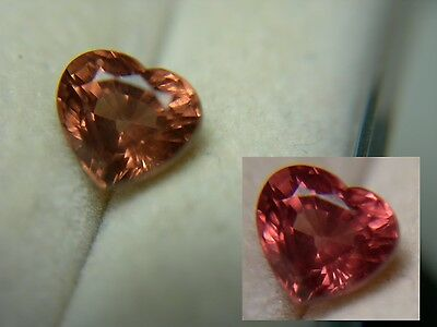 rare Color Shift Malaya Garnet gem HEART CUT Malai Natural Gemstone Pink Orange