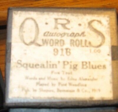 Squealin' Pig Blues Played By Pete Wendling Recut Piano Roll 0118