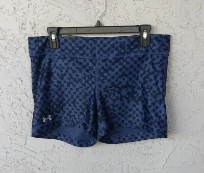 NWT UNDER ARMOUR SHORTY COURT Women's Compression Shorts XL Blue Black