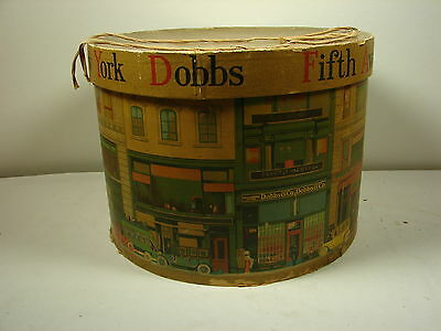 Vintage Dobbs Fifth Avenue Round Hat Box