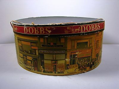 Vintage Dobbs Large Round Hat Box