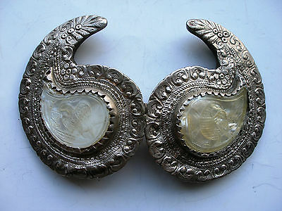 Antique 18c. Handmade Silver Belt Buckle. Ottoman Empire, Greek and Balkans.