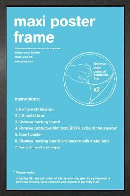 "Wooden Maxi Poster Frame - 61x91.5cm / 24x36"" - Black"