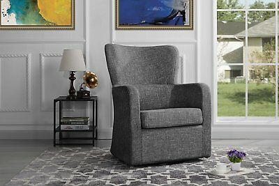 Swivel Accent Armchair Upholstered Chair Modern Mid Century Rotating  Armrest NEW