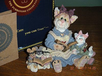Boyds Bears Purrstone 2000~1E MOMMA PURRSMORE, BABY BELLE & MICE~ STYLE #371053