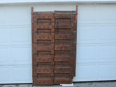 Antique Traditional Indian Door Architectural Salvage Old Haveli Double Door