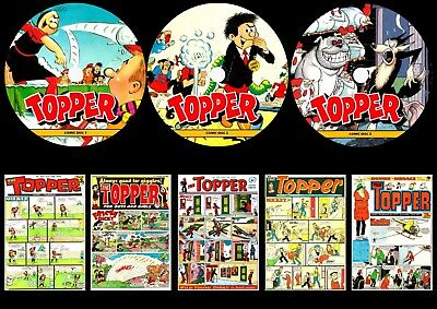 Topper UK Comic, Annuals, Specials On Three DVD Roms