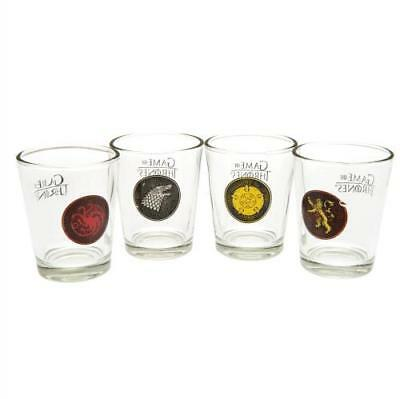Game Of Thrones 4pk Shot Glass Set (football club souvenirs memorabilia)