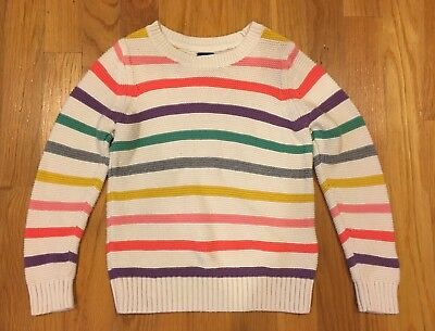 Gap Girls Size 5 Multi Colored Striped Sweater Great Condition