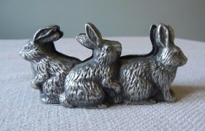 Vintage Rabbit Business Card Holder - 3.5 inches long