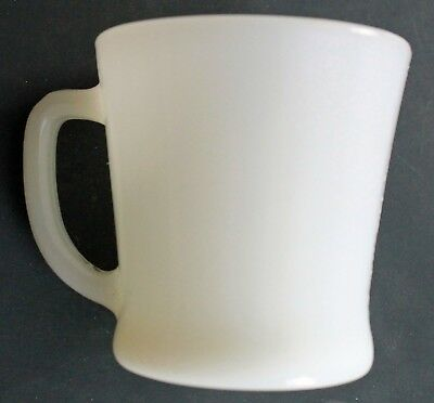Vintage Anchor Hocking Ware Fire King Coffee Mug Milk Glass D Handle Made in USA