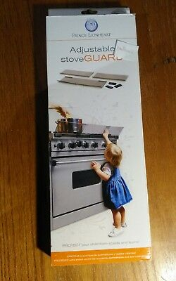 Prince Lionheart Shield-A-Burn Adjustable Stovetop Oven Stove Guard New