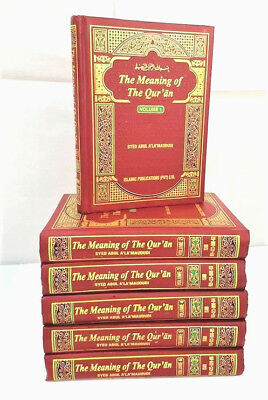 Tafimul Quran: The Meaning of the Qur'an: Arabic / English (6 Vol) Syed Maududi