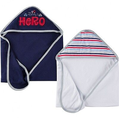 Gerber Baby Boys 2 Pack Hooded Towels NEW Fire Truck CUTE