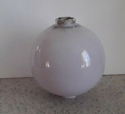 White SCA Milk Glass Lightning Rod Ball Barn Garden Roof Patio Home